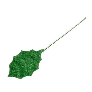 リーフ ヒイラギ M ベルベット緑  造花 クリスマス|familiamia