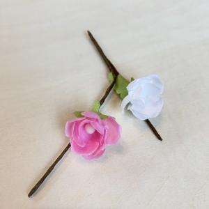 造花 フラワーブーケ 桃の花2輪371「ひな祭り」|familiamia