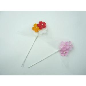 アウトレット造花 フラワーブーケ 小花3輪チュール(1本)205|familiamia