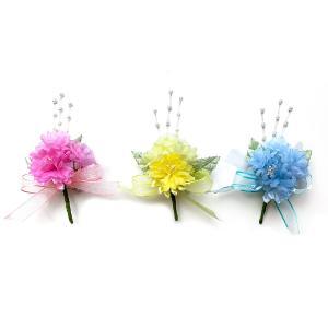造花 胸花 胸のときめくデージーコサージュ(1個) 卒業式 入学式 卒園式 入園式