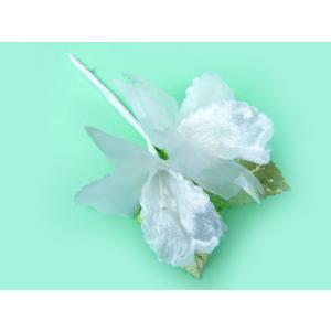 造花 ラッピング ギフト 葉付カトレア2輪 白|familiamia