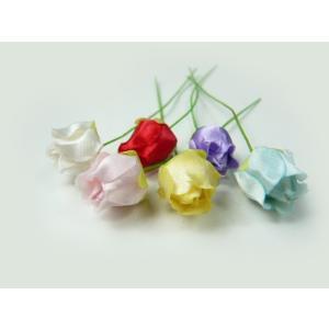 アウトレット造花 ラッピング フラワー バラ401 髪飾りの作り方を動画で紹介 familiamia