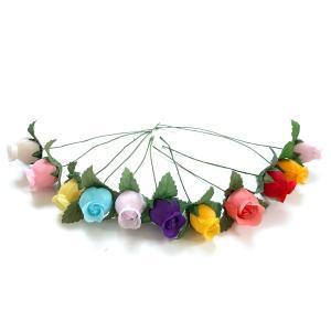 アウトレット造花 バラ 414(1本) ラッピング フラワー 髪飾りの作り方を動画で紹介