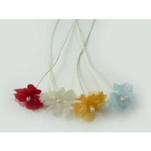アウトレット・ヘアーアクセサリー・造花◆桜草のような小さいお花・2枚べた207(1本)