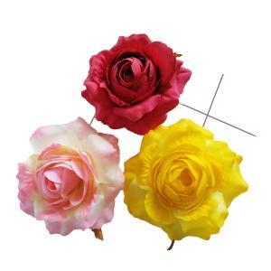 造花 ソフトローズ大(1本)  小花 アートフラワー フェイクフラワー familiamia