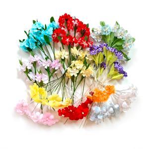 アウトレット:造花アソート アートフラワー 小花のアソートセット198本入り (1セット) familiamia