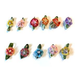 小花 リボンでできたぼかしのお花(カーネーション)|familiamia