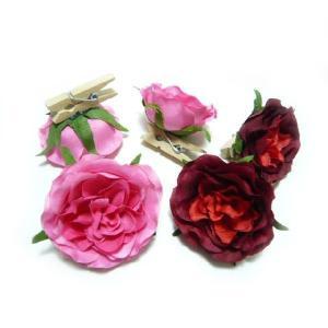 アウトレット造花 バラ ローズクリップ(5個) familiamia