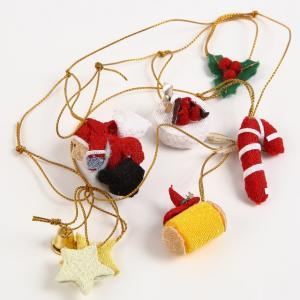 クリスマス飾り ガーランド サンタクロースとケーキ|familiamia