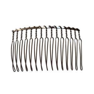 コーム 15本足(1個) 髪飾り ヘアーアクセサリー ヘアドレス部品 手芸材料|familiamia