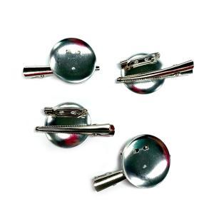 コサージュピン&ヘアクリップ Sサイズ 2WAY銀(1個) ブローチピン ヘアピン アクセサリー 手芸材料|familiamia