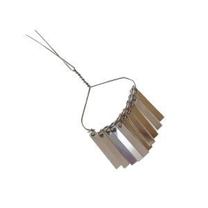 10枚ビラかんざし (1本)  国産 軽いアルミ製 カンザシ パーツ 金具|familiamia