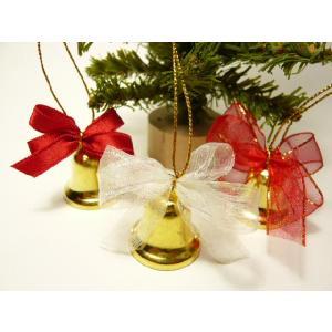 ベル 24mm 可愛いリボンつき 結婚式 クリスマス オーナメント 手芸材料|familiamia