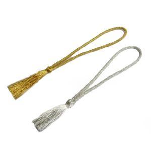 房 紐 タッセル 上品な輝きの豪華な金/銀の房(1本) 和風 金房 金紐 手芸材料|familiamia