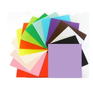 カラーフェルトハード 16cm×16cm 手芸材料 アップリケやスイーツ、キット 工作 服飾に|familiamia