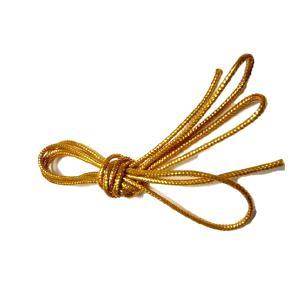 紐 金 銀丸紐(太さ約2mm) 100cm 1本 手芸材料 根付やちりめん細工 和風小物作りに|familiamia