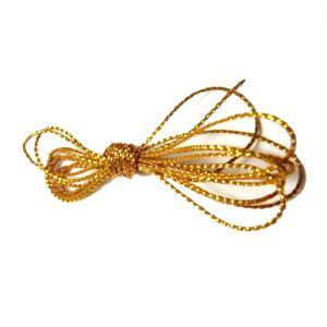 紐 金 銀丸紐(太さ約1mm) 100cm 1本 手芸材料 根付やちりめん細工 和風小物作りに|familiamia