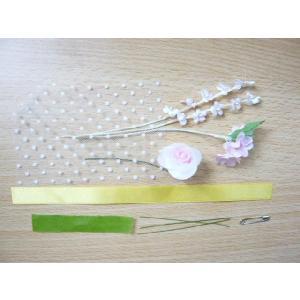 手作りキット・花飾り・胸花・造花◆黄色いリボン...の詳細画像1