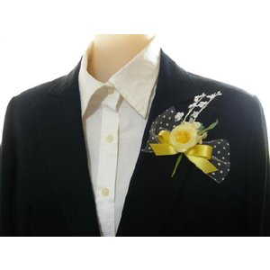 手作りキット・花飾り・胸花・造花◆黄色いリボン...の詳細画像3