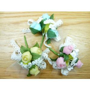 手作りキット・花飾り・胸花◆レースリボンと白い...の詳細画像1