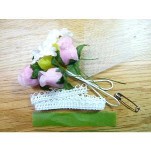 手作りキット・花飾り・胸花◆レースリボンと白い...の詳細画像2