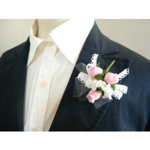 手作りキット・花飾り・胸花◆レースリボンと白い...の詳細画像3