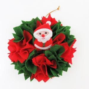 クリスマスちりめんリースキット  手作り  布リース|familiamia