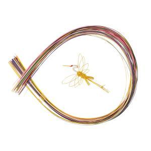 水引 50本セット 『定番』(色 光 絹)(初心者向け) 鶴の水引付き|familiamia