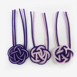 水引 平梅結び 紫(1個) ポチ袋 ラッピングやアクセサリーにも|familiamia