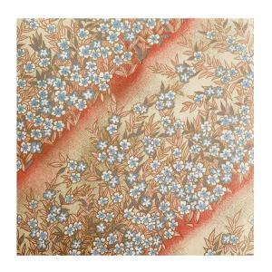 和紙 象牙色 小袖小花 ラッピングや和紙工芸 和紙人形 和紙の花やちぎり絵に使いやすい千代紙の大きさにカット|familiamia
