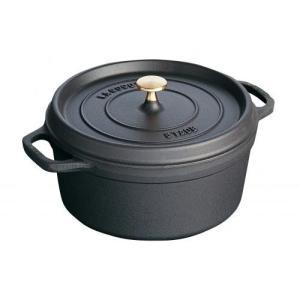 ストウブ ピコ・ココット ラウンド 26cm ブラック 40509-310(送料無料)|family-tools