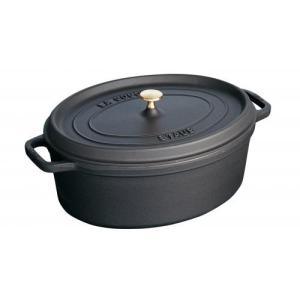 ストウブ ピコ・ココット オーバル 29cm ブラック 40509-315(送料無料)|family-tools