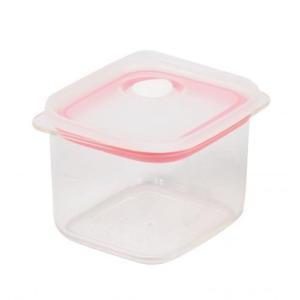 パール金属 Easy Clean 深型密閉保存容器S ピンク HB-2624|family-tools