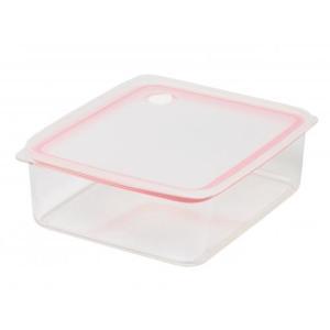 パール金属 Easy Clean 深型密閉保存容器L ピンク HB-2626|family-tools