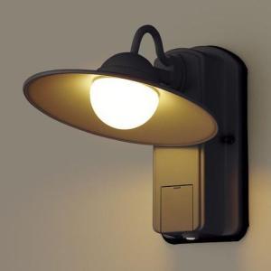 パナソニック 段調光省エネ型 LED ブラケットライト LGWC80246 LE1 オフブラック / ライト led ライト 玄関 照明 LED 屋外 照明 門柱 門灯|famitei