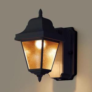 玄関灯 LED  パナソニック 段調光省エネ型 LED ブラケットライト LGWC80232LE1 オフブラック / ライト led ライト 玄関 屋外 照明 門柱 門灯|famitei