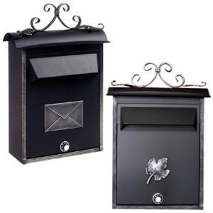 激安ポスト 郵便受け ノーブルポスト 鍵アリ ブラック 郵便ポスト 壁付け|famitei