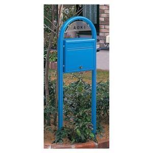 ポスティモネームプレート付(シール文字)前入・前出 F1型(ブルー) ※ YKK かわいい 郵便ポスト 郵便受け ※|famitei
