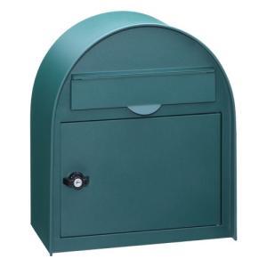ヴィンテージポスト PE-5773(サテン調グリーン)<BR><BR>※※ かわいい シンプル デザイン 壁付 郵便ポスト 郵便受け ※ famitei