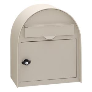 ヴィンテージポスト PE-5778(サテン調クリーム)<BR><BR>※※ かわいい シンプル デザイン 壁付 郵便ポスト ※ famitei