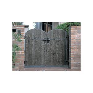 ボレロ門扉1型 06-10両開き柱セット LIXIL おしゃれ 木製調 アンティーク調 門扉 ※※|famitei