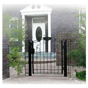 アール門扉2型(10-12) ディーズガーデン 洋風 おしゃれ アルミ 鋳物 錆びにくい 重厚 門扉 ※※|famitei