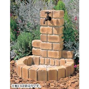 NIKKO 立水栓ユニット サークルタイプPA(ブライトイエロー) ※ ニッコー レンガ調 コンクリート 水栓 パン ※|famitei