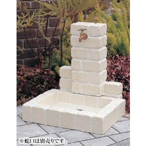 NIKKO 立水栓ユニット サークルタイプPB(オフホワイト) ※ ニッコー レンガ調 コンクリート 水栓 パン ※|famitei