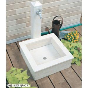 NIKKO 立水栓ユニット モ・エット(ホワイト) ※ ニッコー かわいい シンプル 水栓 パン ※|famitei