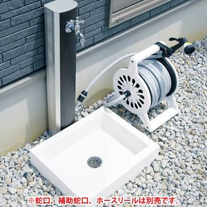 NIKKO 立水栓 フォギータイプA 補助蛇口仕様+シンプルパンセット ※ ニッコー 木目調 立水栓 水栓 パン ※|famitei