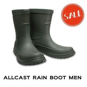 【クロックス crocs b】allcast rain boot men/オールキャスト レインブー...