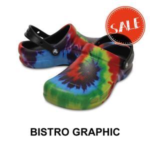 クロックス サンダル crocs ビストロ グラフィック クロッグ bistro graphic clog カフェ 厨房 キッチン 滑り止め|famshoe