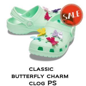 【クロックス crocs キッズ】classic butterfly charm clog PS/ク...