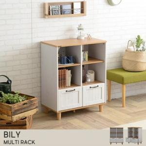 BILY(バイリー) ラック シェルフ(72cm幅) WH×NA  5964593|fan-field